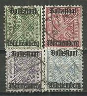 Württemberg,  Aus Nr. 260-64, Gestempelt - Wurttemberg