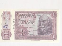 Billete 1 Peseta. 1953. España. Facsimil. Marqués De Santa Cruz. Sin Serie. Sin Circular - [ 3] 1936-1975 : Régimen De Franco