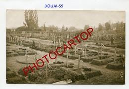DOUAI-Cimetiere Militaire-Tombes-PHOTO Allemande Comme CP-Guerre14-18-1WK-France-59-Militaria- - Douai