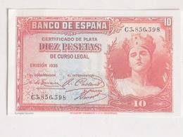 Billete 10 Pesetas. 1935. República Española. Facsimil. Sin Circular. Pre Guerra Civil - [ 2] 1931-1936 : Republic