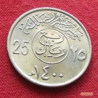 Saudi Arabia 25 Halala 1979 / 1400 KM 55  Arabia Saudita Arabie Saoudite - Saudi Arabia