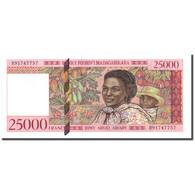 Billet, Madagascar, 25,000 Francs = 5000 Ariary, Undated (1998), KM:82, SPL+ - Madagascar