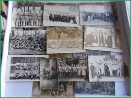 WWI GGI 1914 1918 LOT CPA Photo Militaria Militaires Régiment à Déterminer Ou Trouvé 121e Montluçon 71e 21e - Guerra 1914-18