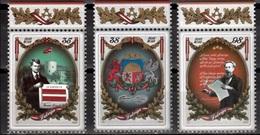 Letland Mi 795,797  Letland 100 Jaar Republiek  Postfris M.n.h. - Letland