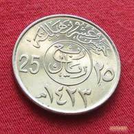 Saudi Arabia 25 Halala 2002  / 1423 KM 63  Arabia Saudita Arabie Saoudite - Saudi Arabia