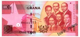 GHANA 1 CEDI 2017 Pick 37g Unc - Ghana