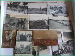 WWI GGI 1914 1918 LOT CPA Militaria Militaires Tranchées Fantaisies Canon Remise Medailles - Guerra 1914-18