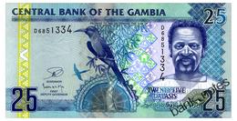GAMBIA 25 DALASIS ND(2013) Pick 27c Unc - Gambie