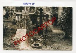DOUAI-Cimetiere Militaire-Tombe Räntzsch-CARTE PHOTO Allemande-Guerre14-18-1WK-France-59-Militaria- - Douai
