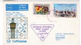 M364 Iran Premier Vol 1970 Teheran - Istanbul First Flight Erstflug Lufthansa - Aviones