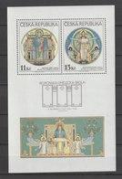 MiNr. 234-235 (Block 9) Tschechische Republik / 1999, 20. Okt. Blockausgabe: Christliche Gemälde Im Stile Der Schule Von - Tschechische Republik