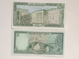 Billete Líbano. 5 Libras. 1986. Sin Circular - Líbano