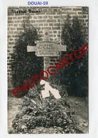 DOUAI-Cimetiere Militaire-Tombe Ltn. VOLE-CARTE PHOTO Allemande-Guerre14-18-1WK-France-59-Militaria- - Douai