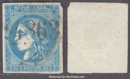 *RARE* GC 4863 (Chabons, Isère (37)), Cote 90€ (+25€ Pour Le Timbre : 46B) - 1849-1876: Classic Period