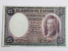 Billete 25 Pesetas. 1931. España. Facsimil. Sin Serie. Vicente López. Sin Circular - [ 1] …-1931 : First Banknotes (Banco De España)