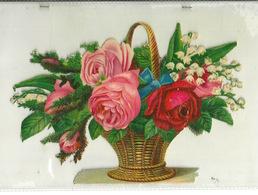 DECOUPIS ANCIEN FORMAT 16X12 / BOUQUET DE FLEURS - Fleurs