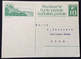 """Schweiz Suisse Um 1930: Bild-PK """"NEUVEVILLE"""" Adressiert Nach Chur (Veltliner-Weine) Aber Ungelaufen - Non-circulé - Vins & Alcools"""