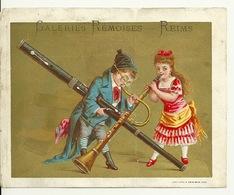 CHROMO ANCIEN 16X12 / GALERIES REMOISES à REIMS - JEUNES MUSICIENS - MUSIQUE A VENT - Autres