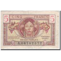 France, 5 Francs, 1947 French Treasury, 1947, TTB, Fayette:VF29.1, KM:M6a - Tesoro