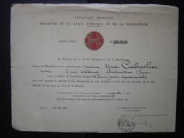 LOT Diplome De La Santé Publique Des Donneurs De Sang Bénévoles Insigne Argent 1964 Et 1970 PARIS - Diplômes & Bulletins Scolaires