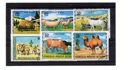 EDY 888 - MONGOLIA , 6 Valori Usati A Tema ANIMALI - Mongolia