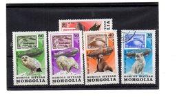 EDY 889 - MONGOLIA , 5 Valori Usati A Tema ANIMALI - Mongolia