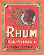 étiquette Ancienne Glaçée De Rhum San Sylvana Lefebvre Frères à Le Havre - Rhum