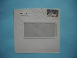 ENVELOPPE PUBLICITAIRE  -  BRIOT & Cie  -  LEPUIX  -  GY  -  90  -  Territoire De Belfort    -  1964  - - Marcophilie (Lettres)