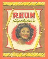 étiquette Ancienne De Rhum Supérieur - Rhum