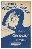Histoires De Garçon Coiffeur - Paroles Et Partition - Document De 4 Pages - 1941 - Bon état - Partitions Musicales Anciennes