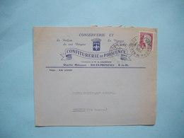 ENVELOPPE PUBLICITAIRE  -  CONFITURERIE DE PROVENCE  -  AIX  -  13  -  Bouches Du Rhône  -  1964  - - Marcophilie (Lettres)