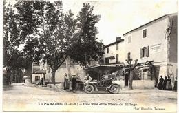 D13  . CPA . PARADOU . Une Rue Et Place Du Village  .TTB Animation... - Other Municipalities