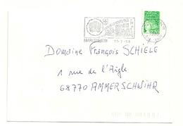 RHIN / Bas - Dépt N° 67 = MARLENHEIM  1998 =  FLAMME Type II = SECAP Illustrée 'PORTE De La ROUTE Des VINS D' ALSACE' - Storia Postale
