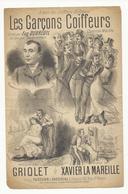 Les Garçons Coiffeurs - Paroles Et Partition (chanson Marche) - Document De 4 Pages - état Moyen - Partitions Musicales Anciennes
