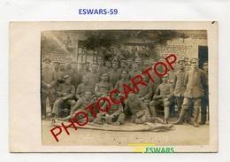 ESWARS-CARTE PHOTO Allemande-Guerre14-18-1WK-France-59-Militaria- - France