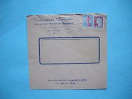 ENVELOPPE PUBLICITAIRE  -  Laboratoires HEUPROPHAX  -  Produits Pharmaceutiques  -  NANTERRE  -  92  -  1964 - Marcophilie (Lettres)