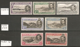 ASCENSION  1938 - 1953 VARIOUS PERF VALUES TO 6d MOUNTED MINT Cat £37+ - Ascension