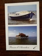 L11/17 Bassin D'Arcachon. Une Pinasse. Une Maison Tchanquée - Arcachon