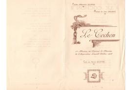 Chanson Sur Le Cochon Par A. DELANGE, Musique J. SAULNIER, 1 Feuillet 21 X 29.7, Coupure 1 Cm Et Pli Bord Droite - Partitions Musicales Anciennes