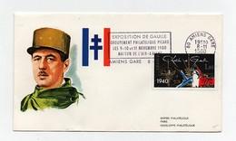 Timbre Sur Enveloppe Exposition De Gaulle Groupement Philatélique Picard Les 9-10 Et 11 Novembre 1980 Amiens - De Gaulle (Generale)