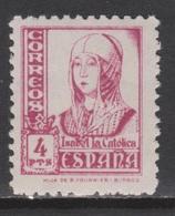 1937 ISABEL 4 PTA NUEVO*. 38 €. VER. - 1931-Today: 2nd Rep - ... Juan Carlos I