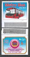 PAKISTAN MATCHBOX METRO BUS - Matchboxes