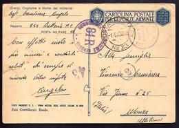 W183  - POSTA MILITARE N. 33 SU FRANCHIGIA ARTISTI ALLE ARMI - 1900-44 Vittorio Emanuele III