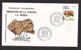 Andorra: FDC First Day Cover, 1985, 1 Stamp, Mushroom, Fungus (traces Of Use) - Frans-Andorra