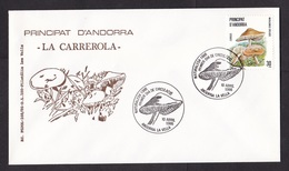 Andorra: FDC First Day Cover, 1986, 1 Stamp, Mushroom, Fungus (traces Of Use) - Frans-Andorra