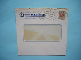 ENVELOPPE PUBLICITAIRE   -  Laboratoires MARINIER  -  Rue D'Orgemont  -  PARIS    -  1965 - Marcophilie (Lettres)