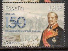 SPAIN, 2018, MNH, MILITARY, LEOPOLD O'DONNELL, HORSES,  1v - Otros