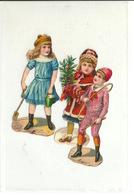 DECOUPIS ANCIEN / TROIS JEUNES ENFANTS - HAUTEUR 8cm - Animaux