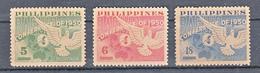 Filippine Philippines Philippinen Filipinas 1950 Baguio Conference Complete Set, Toned Gum - MNH** - Filippine