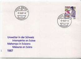 Switzerland Stamp On FDC - Post